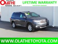 Options:  2013 Toyota Highlander V6 4X4 Plus|Gray/|V6