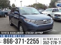 2013 Toyota Highlander. *** Still under Service