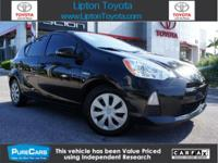 Prius c Two, Toyota Certified, 5D Hatchback, 1.5L