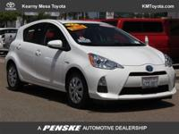 Prius c Two, Toyota Certified, 1.5 L 4-Cylinder