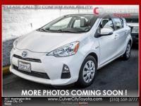 Options:  2013 Toyota Prius C One White 5J X 15 Steel