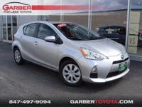 New Price! 2013 Toyota Prius c Three Silver Clean