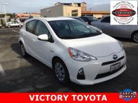 2013 Toyota Prius c Two in White starred featured