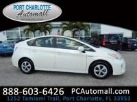 CARFAX One-Owner. Clean CARFAX. White 2013 Toyota Prius