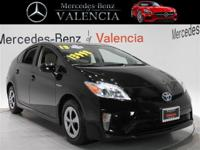 Clean CARFAX. Black 2013 Toyota Prius Four 5D Hatchback