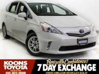2013 TOYOTA PRIUS V TWO IN SUPER WHITE, TOUCHSCREEN
