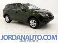 This Rav-4 looks different with the green color and the