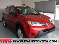 Certified. Barcelona Red Metallic 2013 Toyota RAV4 LE