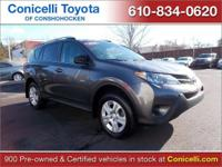 CarFax 1-Owner, This 2013 Toyota RAV4 LE will sell fast