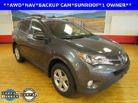 LEATHER, NAVIGATION, and SUNROOF/ MOONROOF. RAV4 XLE,