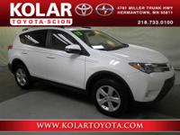 RAV4 XLE, AWD, Clean Auto Check History Report, and