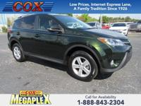 This 2013 Toyota RAV4 XLE in Spruce Mica is well