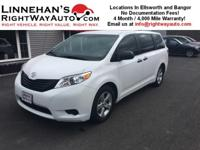 This 7 passenger Toyota Sienna is in great shape, and