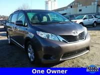 CARFAX One-Owner. Gray 2013 Toyota Sienna FWD 6-Speed