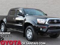 Clean CARFAX. Black 2013 Toyota Tacoma V6 4WD 5-Speed