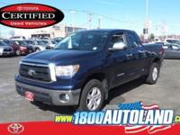 Certified. Blue 2013 Toyota Tundra Grade 4.6L V8 4WD