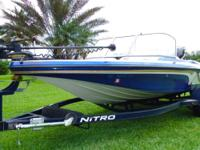 2013 Tracker Nitro Z7 Sport Mercury Optimax 150 hp Pro