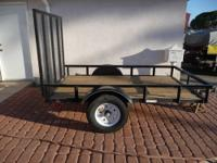 5' x 8' Flatbed Utility Trailer with Tailgate/Ramp.