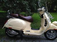 2013 Vespa scooter model GTV 300 ie. The Cadillac of