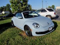 2013 Volkswagen Beetle 2.5L In Denim Blue/Beige Roof.