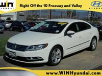 NEW TIRES!! Candy White 2013 Volkswagen CC 2.0T Sport
