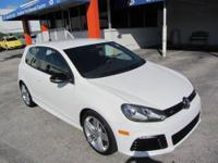 This 2013 Volkswagen Golf R Hatchback . It is equipped