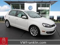 CARFAX One-Owner. Candy White 2013 Volkswagen Golf TDI