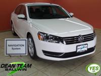 2013 PASSAT SE! DEAN GROUP LOANER VEHICLE! LOW MILES!