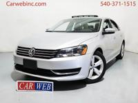 2013 Volkswagen Passat has a CLEAN CARFAX with ONE
