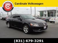 Black 2013 Volkswagen Passat 2.5 SE FWD 6-Speed