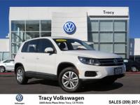 Options:  2013 Volkswagen Tiguan S|White|Just Reduced!