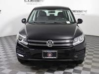 A VERY NICE 1 OWNER TIGUAN S WITH ONLY 38K MILES, BLACK