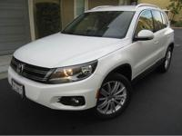 2013 vw tiguan se 2.0t white paint on black interior