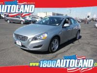Clean CARFAX. Silver 2013 Volvo S60 AWD 6-Speed