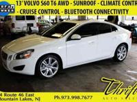 2013 Volvo S60 T6 For Sale.Features:Turbocharged, All