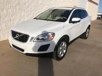 Clean CARFAX. Cosmic White Metallic 2013 Volvo XC60 3.2