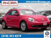 Call Ancira Volkswagen for this great new VW Beetle in