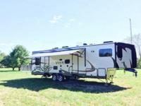 Beautiful 2013, 38 foot, XLR Toyhauler Travel Trailer.