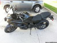 It is a 2013 Yamaha Ninja 650 that is just past the