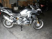 2013 BMW MOTORCYCLE R1200 GS, COLOR BLACK AND SPACE