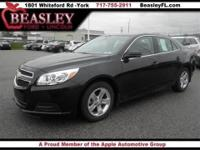 Black Malibu LT Sedan, 2.5L 4-Cylinder Automatic, **