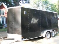 2013 Wells Cargo 7x16 Tandem Axle Enclosed Trailer Ramp