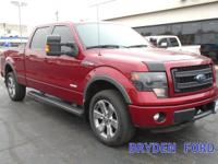 NICE RUBY RED FX4 CREW CAB F-150 HEATED AND COOLED
