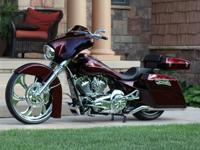 It is a 2013 Harley Davidson Street glide.Built from