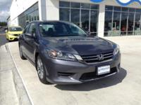Honda Certified, One Owner Accord LX. This car looks,