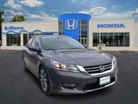 Honda Certified, One Owner Accord SPORT. This vehicle