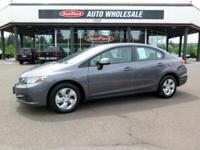 Economic and gas-sipping, this 2013 Honda Civic Sdn LX