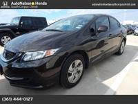 This 2013 Honda Civic Sdn LX is proudly offered by