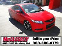 This sporty and comfortable 2013 Honda Civic comes with