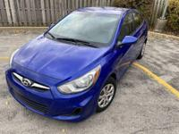 Blue 2013 Hyundai Accent GLS Sedan - With only 93,617